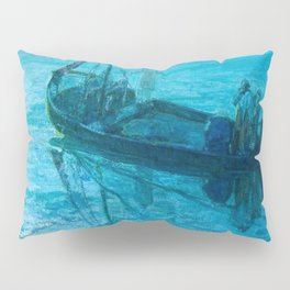 African American Masterpiece 'Disciples See Jesus Walk on Water from Boat' by Henry Ossawa Tanner Pillow Sham
