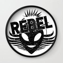 Rebel alien Wall Clock