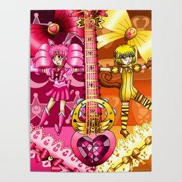 Sailor Mew Guitar #11 - Sailor Chibi Moon & Mew Pudding Poster