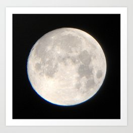 Moon over Melbourne Art Print