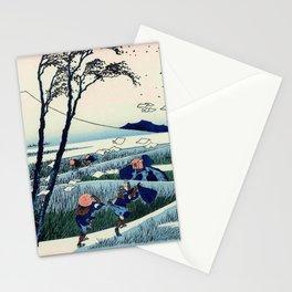 Hokusai -36 views of the Fuji  18 Ejiri in the Suruga province Stationery Cards