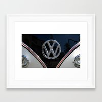 vw bus Framed Art Prints featuring VW Bus by Film & Pixels