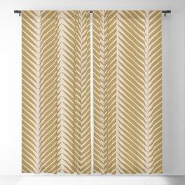 Palm Symmetry - Neutral Green Blackout Curtain