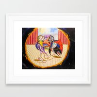 theatre Framed Art Prints featuring Theatre by Vargamari