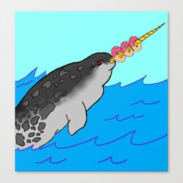 Gnarly-whal Canvas Print