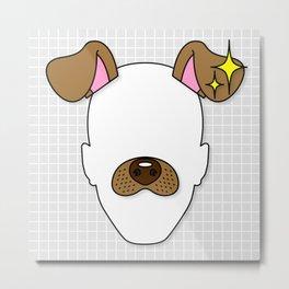 Snapchat Dog Filter Metal Print