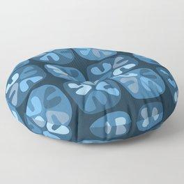 blue boomerangs Floor Pillow