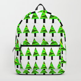 Christmas tree 2-pine,Yule-tree,Christmas,garlands,baubles,tinsel,evergreen,Star of Bethlehem Backpack