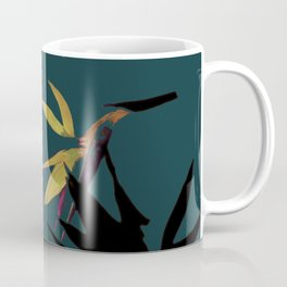 Fall print in forest green and mustard (also available in navy and blue) Coffee Mug