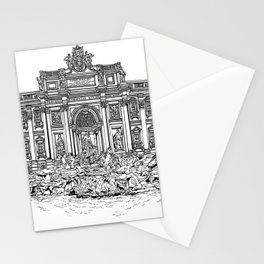 Trevi Fountain in Rome Stationery Cards