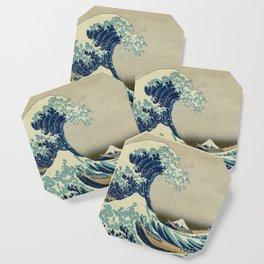 The Classic Japanese Great Wave off Kanagawa Print by Hokusai Coaster