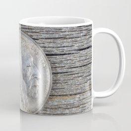 First year of original United States Buffalo Nickel on rustic wood Coffee Mug