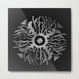 Sundial and Astronomy Style Metal Print