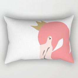 The flamingo king Rectangular Pillow