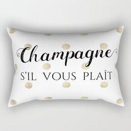 Champagne, s'il vous plaît Rectangular Pillow