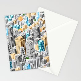 Isometric city Stationery Cards