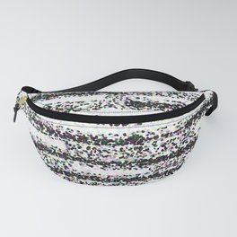 A Pointillist Arrangement of Black and White Fanny Pack
