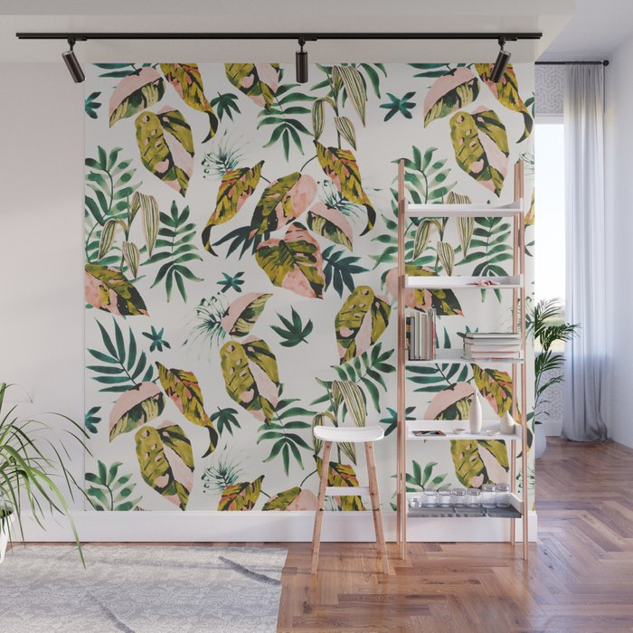 Abstract colorful jungle Wall Mural
