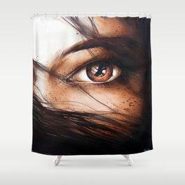 """""""Wild black"""" Shower Curtain"""