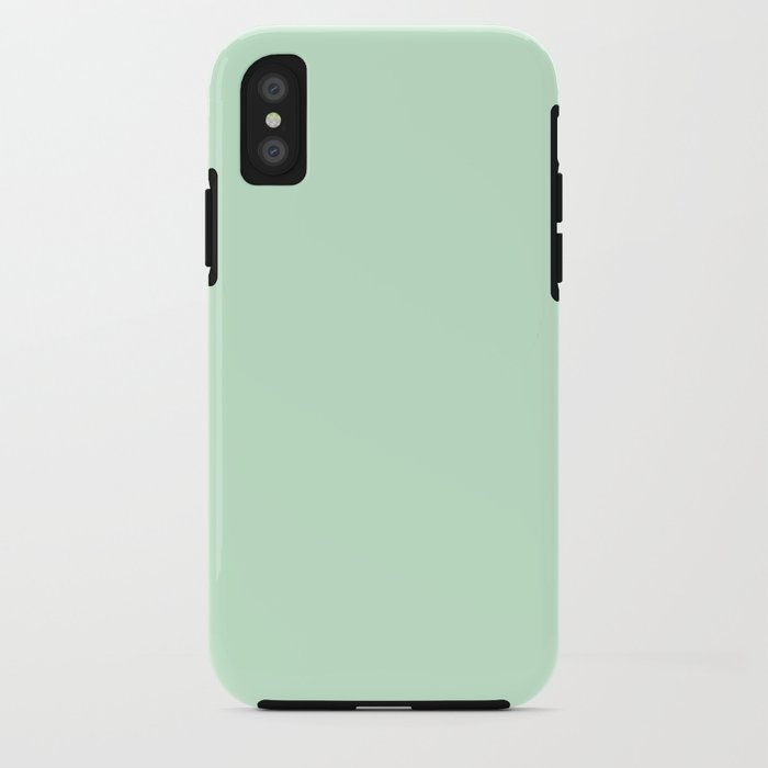 Pastel Green Color Clear Iphone Case