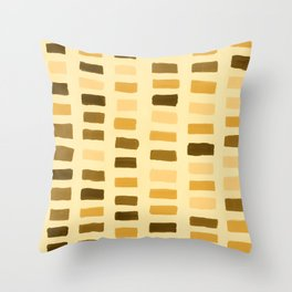 Painted Color Block Rectangles in Yellow Throw Pillow