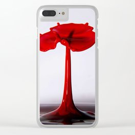 water poppy Clear iPhone Case