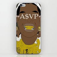 asap rocky iPhone & iPod Skins featuring ASAP Rocky by ashakyetra