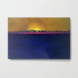 Ocean Blue & Sunset (High Tide) landscape painting by Felix Vallotton Metal Print