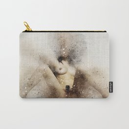 Nude woman sitting watercolor Carry-All Pouch