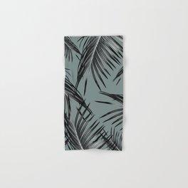 Black Palm Leaves Dream #4 #tropical #decor #art #society6 Hand & Bath Towel