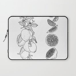 Citrus Branch of Lemons and Slices of Fruit Laptop Sleeve