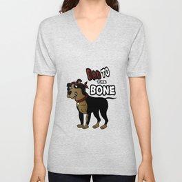 Bad to The Bone - Pit Bull Unisex V-Neck