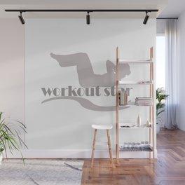Workout Yoga Gym Star Wall Mural