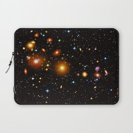 Galaxies, nebulas, planets, and stars in the universe Laptop Sleeve
