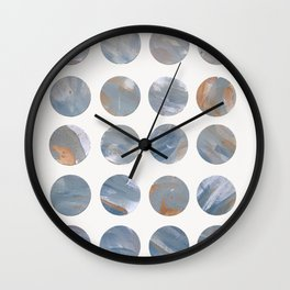 Pastel Blue Dots Wall Clock