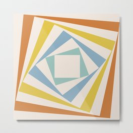 Spinning Squares Palette II Metal Print
