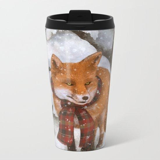 Winter Fox Metal Travel Mug
