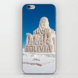 Dakar, Bolivia Monument in Salar de Uyuni, Salt Flats iPhone Skin