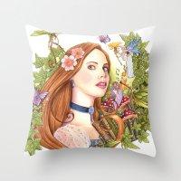 fairytale Throw Pillows featuring Fairytale by Dibujando Hadas