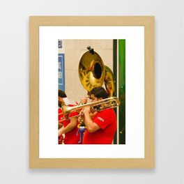Trombone Framed Art Print