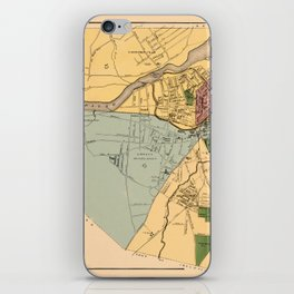 Map Of Lowell 1881 iPhone Skin