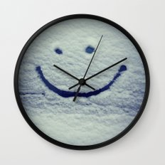 Snow Smile Wall Clock