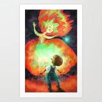 Pinocchio and Fairy Godmother Art Print