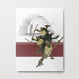 Turtle Drome Metal Print