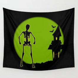 Halloween House Wall Tapestry