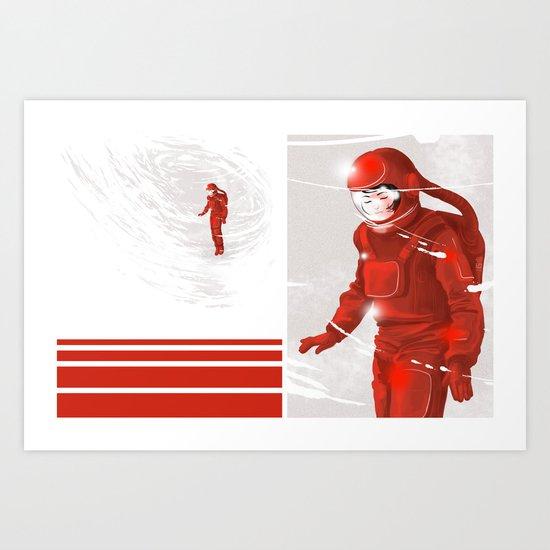 Hiroko in Storm // (astronaut girl) Art Print