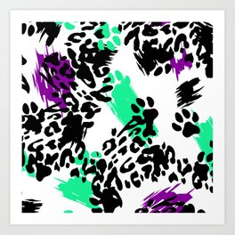 modern animal print Art Print