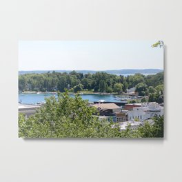 Harbor Springs Bay- View from Bluff (1) Metal Print