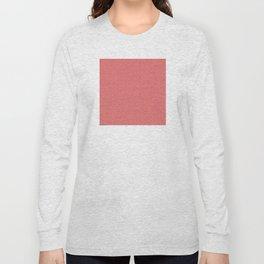 Pink Salmon (Saumon) Tres Petit Geometric Pattern Long Sleeve T-shirt