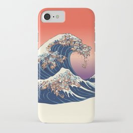 The Great Wave of Dachshunds iPhone Case